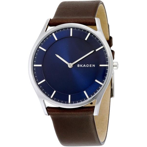 【送料無料】SKAGEN SKW6237 ブルー×ブラウン HOLST(ホルスト) [クォーツ腕時計 (メンズウオッチ)] 【並行輸入品】
