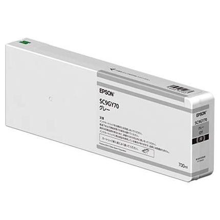 【送料無料】EPSON SC9GY70 グレー [インクカートリッジ]【同梱配送不可】【代引き不可】