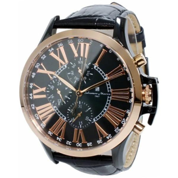 Salvatore Marra SM14123-PGBK [クロノクオーツ メンズ腕時計]