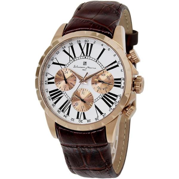 Salvatore Marra SM15103-PGWH [腕時計]