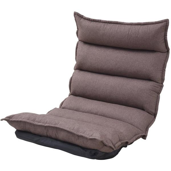 【送料無料】JKプラン 国産(日本製)座椅子 座り心地NO-1!もこもこリクライニングチェア ZSS-0003 BR ブラウン【同梱配送不可】【代引き不可】【沖縄・北海道・離島配送不可】