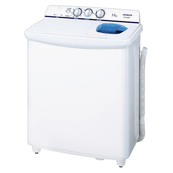 【送料無料】日立 PS-55AS2(W) ホワイト系 青空 [二槽式洗濯機 (5.5kg)]