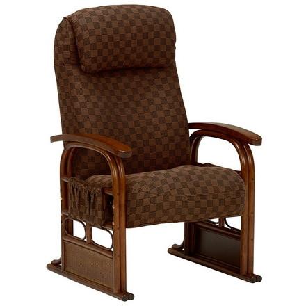 【送料無料】萩原 RZ-1251BR 高座椅子 ブラウン【同梱配送不可】【代引き不可】【沖縄・北海道・離島配送不可】
