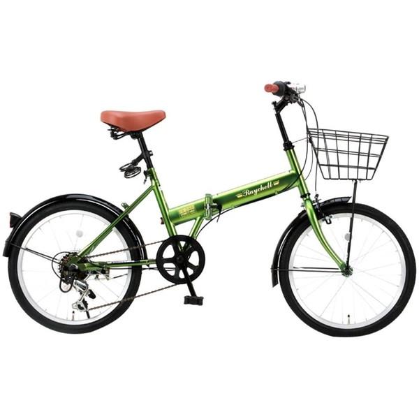 【送料無料】Raychell FB-206R-カーキ [折畳み自転車 (20インチ)] 【同梱配送不可】【代引き・後払い決済不可】【沖縄・北海道・離島配送不可】 学生 通勤 通学 春 OL 祝 入学 アウトドア サイクリング