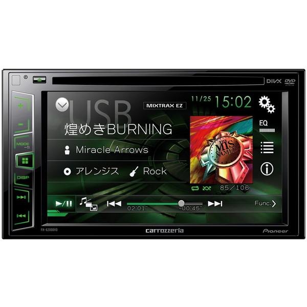 【送料無料】PIONEER FH-6200DVD ブラック carrozzeria [DVDプレーヤー (carrozzeria 6.2V型ワイドVGAモニター/DVD-V/VCD/CD/USB/チューナー・DSPメインユニット)]