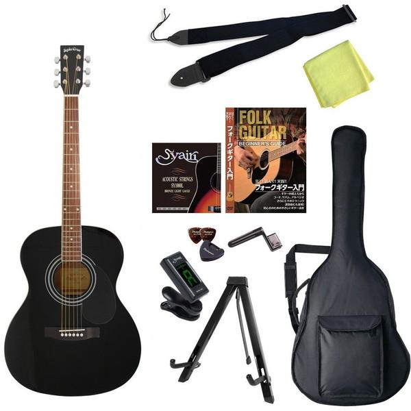 【送料無料】SepiaCrue FG-10/BK エントリーセット ブラック [アコースティックギター初心者入門エントリーセット]