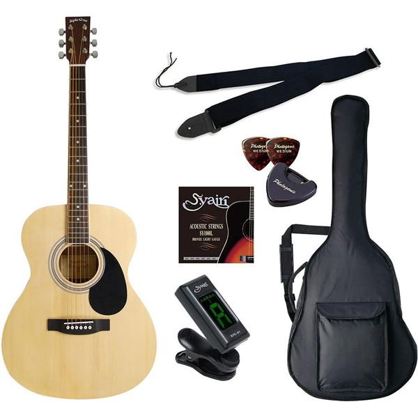 【送料無料】SepiaCrue FG-10/N ライトセット ナチュラル [アコースティックギター初心者入門ライトセット ] FG10N ライトセット