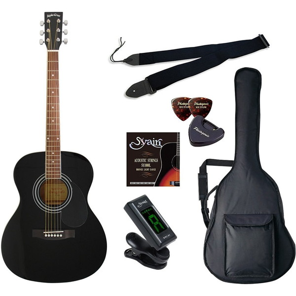 【送料無料】SepiaCrue FG-10/BK ライトセット ブラック [アコースティックギター初心者入門ライトセット ]