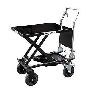 和コーポレーション KT-180XL [油圧式テーブル運搬車 (180kg/大車輪テーブル幅広タイプ)]