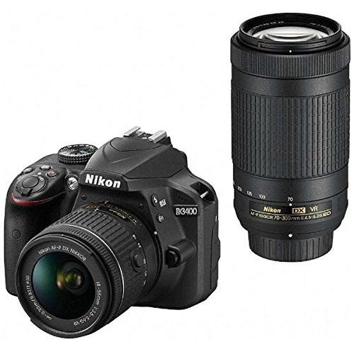 【送料無料】Nikon D3400WZBK ダブルズームキット ブラック