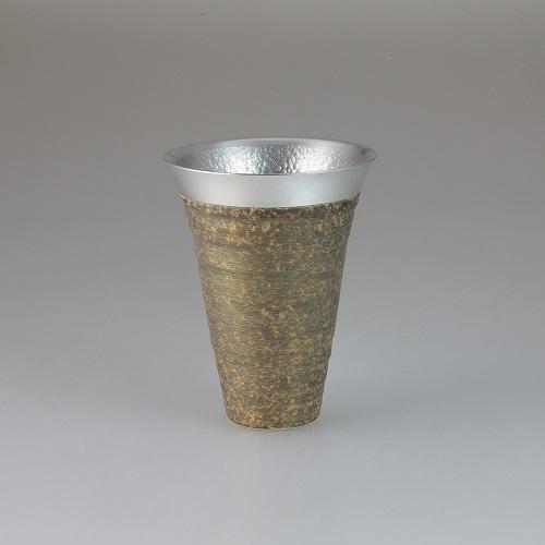 【送料無料】西日本陶器 月光(金)錫陶フリーカップ【同梱配送不可】【代引き不可】