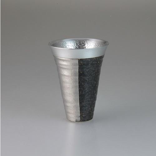 【送料無料】西日本陶器 ZEN(銀)錫陶フリーカップ【同梱配送不可】【代引き不可】