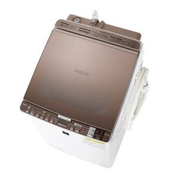 【送料無料】洗濯機 シャープ ES-GX9A-T ブラウン系 全自動 タテ型 洗濯乾燥機 9.0kg 節水 穴なし槽 ガラストップ プラズマクラスター SHARP【代引き不可】