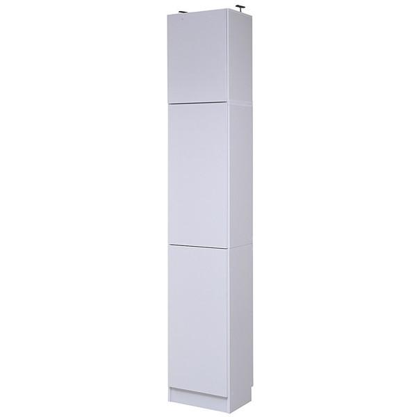 【送料無料】JKプラン FRM-0106DOORSET-WH MEMORIA 棚板が1cmピッチで可動する 深型扉付幅41.5 上置きセット【同梱配送不可】【代引き不可】【沖縄・離島配送不可】