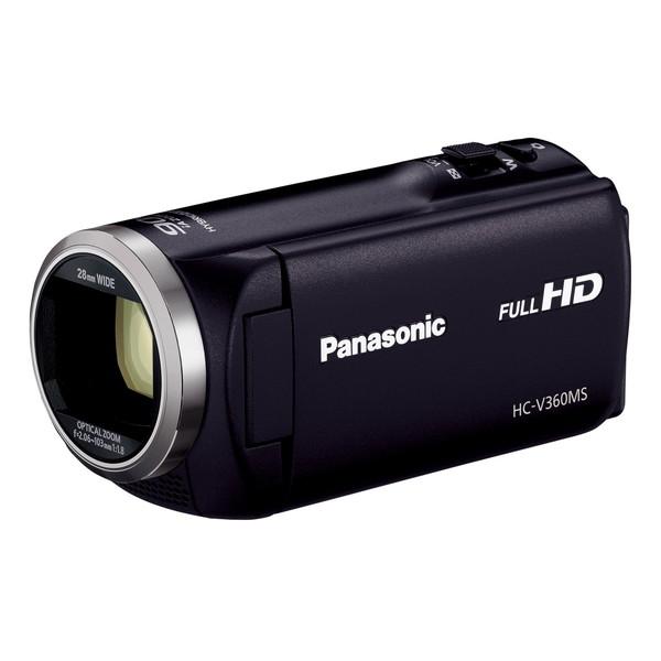 【送料無料】PANASONIC ビデオカメラ HC-V360MS-K ブラック [デジタルハイビジョンカメラ(内蔵メモリー16GB)] HCV360MSK
