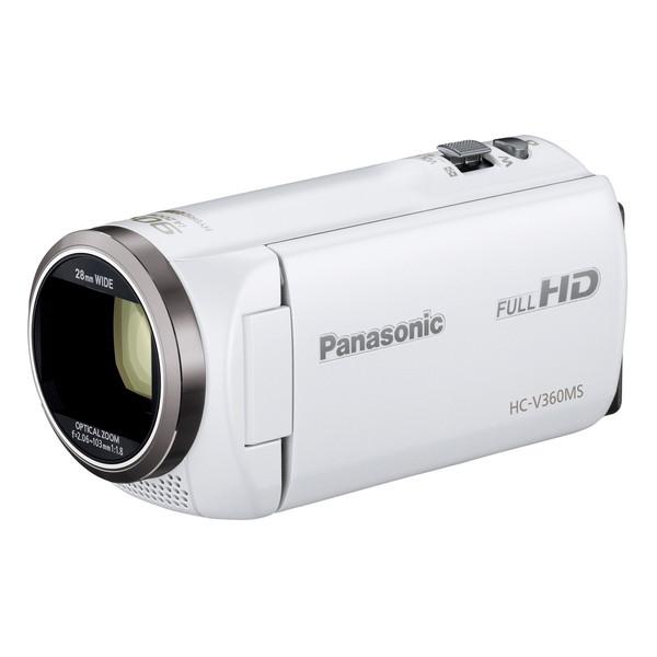 【送料無料】PANASONIC HC-V360MS-W ホワイト [デジタルハイビジョンカメラ(内蔵メモリー16GB)] HCV360MSW