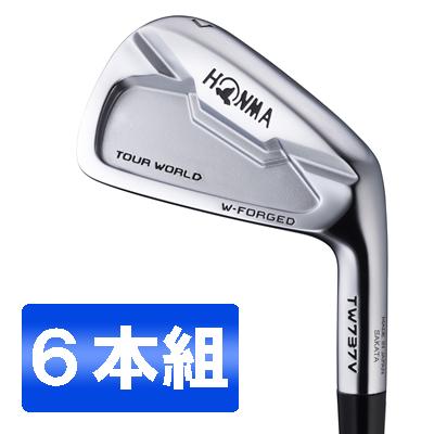 【送料無料】本間ゴルフ(HONMA) ツアーワールド TW737V アイアンセット6本組 Dynamic Gold AMT スチールシャフト フレックス:S200 #5-10 【日本正規品】