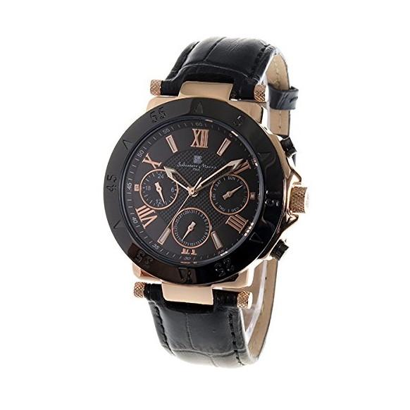 Salvatore Marra SM14118S-PGBK ブラック [腕時計]