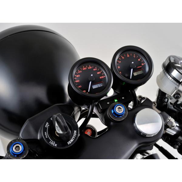 【送料無料】デイトナ D91683 [VELONA 電気式スピードメーター (非接触センサー無し) 200km/h ブラックボディ 3色LED]