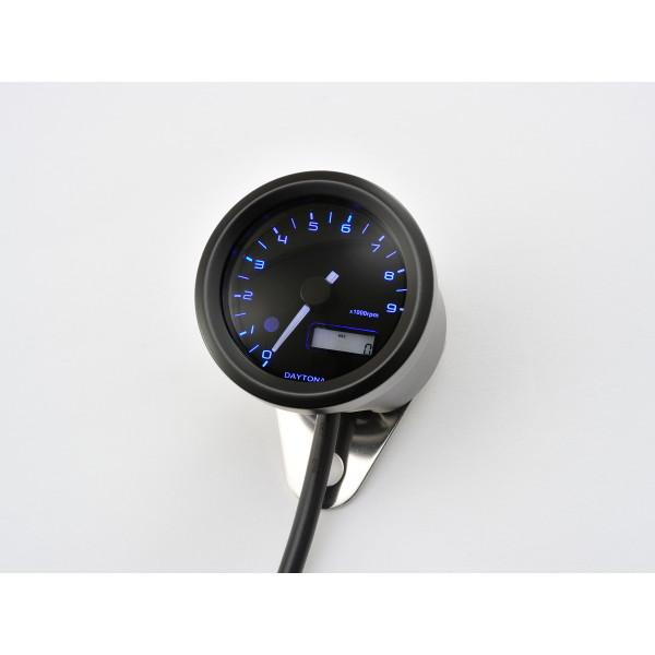 【送料無料】デイトナ D91675 [VELONA 電気式タコメーター(パルスジェネレーター無し)9000rpm ブラックボディ 3色LED]