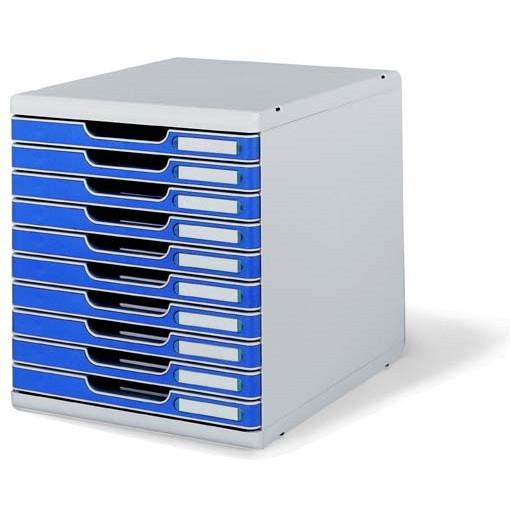 【送料無料】1318-0302-4003 オフィスセットシステムII 10段 ブルー