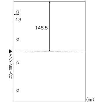 【送料無料】HISAGO 1318-BPE2003 マルチプリンタ帳票エコノミープライス A4判2面4穴