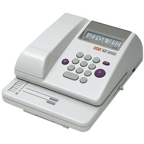 【送料無料】MAX 1318-EC90003 電子チェックライター EC-610C