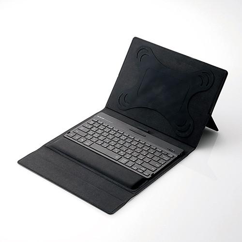 【送料無料】ELECOM TK-CAP01BK ブラック [Bluetoothキーボードケース 無段階角度調整機能付き (8.5~10.5インチタブレット対応)]