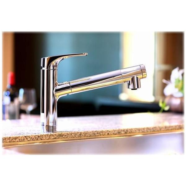 節湯と節水。便利さに加えて備わった節約構造。 三菱レイヨン F426 クリンスイ [ビルトイン型浄水器] 水栓一体型 節水 ハンドシャワー フロントレバー