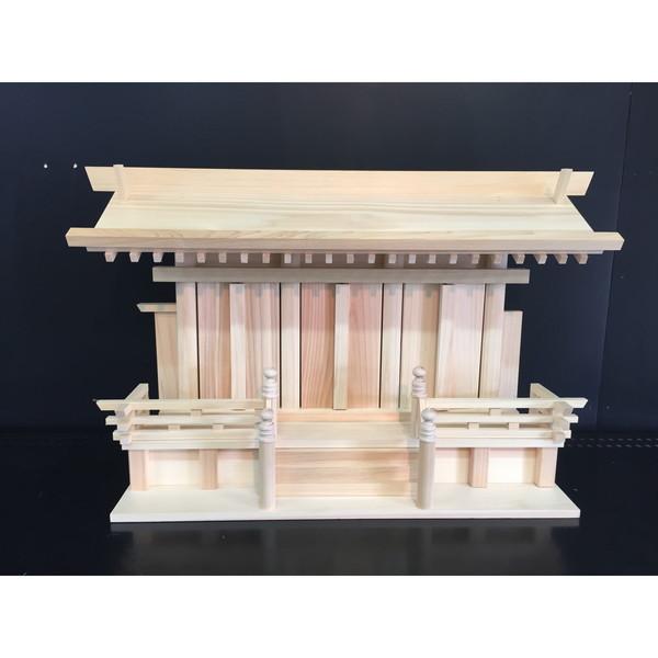 【送料無料】静岡木工 低床屋根違い三社古都