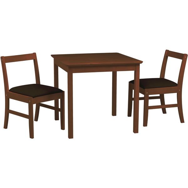 ダイニングテーブルセット 2人用 3点セット ダイニングテーブル ダイニングチェア 北欧 木製 シンプル おしゃれ コンパクト ブラウン