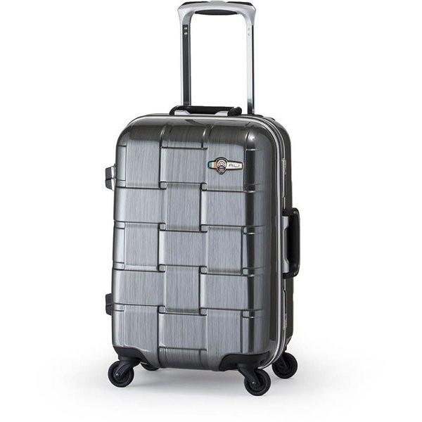 【送料無料】アジア・ラゲージ ALI-1420 ガンメタブラッシュ WEAVEL [スーツケース (32L/1~2泊/機内持ち込み可)]