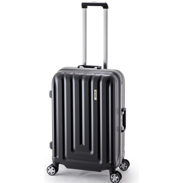 【送料無料】アジア・ラゲージ MS-033-25 カーボンブラック MAX SMART [スーツケース (52L/2~3泊/TSAロック搭載)]