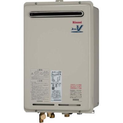 【送料無料】Rinnai RUJ-V1611W(A)-13A [ガス給湯器 (都市ガス用) 16号 屋外壁掛 浴室リモコン(BC-124V)付属] 【16号】 設置工事 工事 可 取替 取り替え 交換
