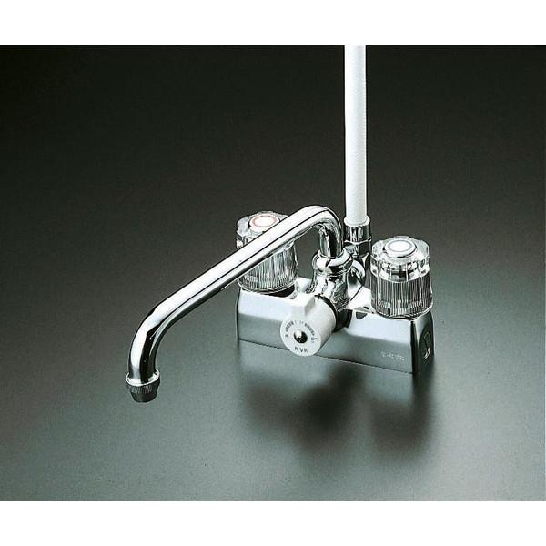 【送料無料】KVK KF205 デッキ止水2ハンドルシャワー