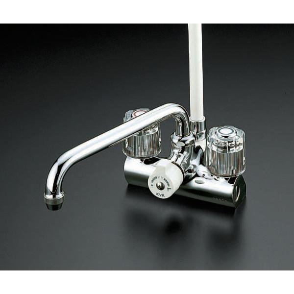【送料無料】KVK KF206 デッキ止水2ハンドルシャワー