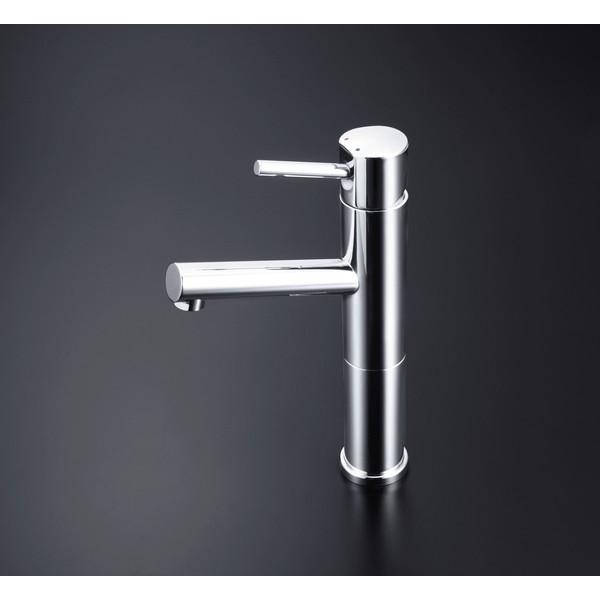 【送料無料】KVK LFM612-128 洗面混合栓ロング 銅管