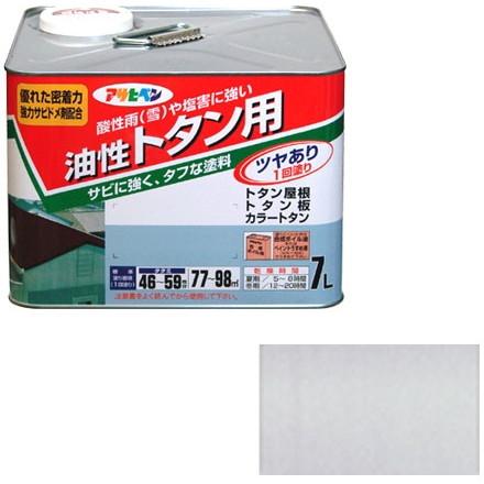 【送料無料】アサヒペン トタン用 7L (銀)