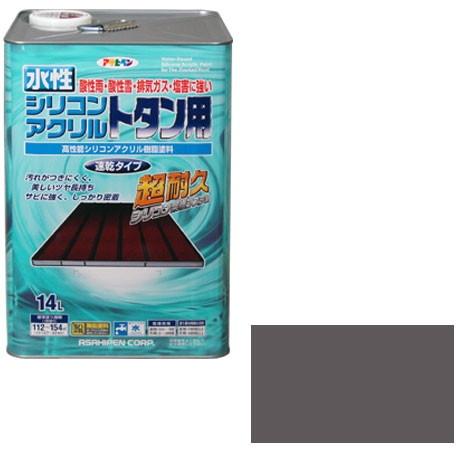【送料無料】アサヒペン 水性シリコンアクリルトタン用 14L (グレー)