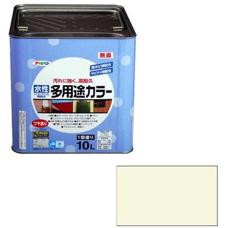 【送料無料】アサヒペン 水性多用途カラー 10L (ミルキーホワイト)