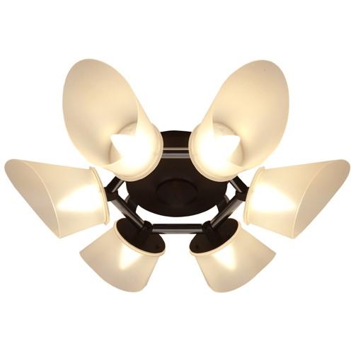 【送料無料】スワン電器 CE-102 Slimac [LEDシャンデリアライト (~8畳・6灯・電球色・42W)]