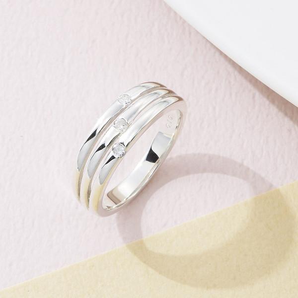 【送料無料】12603604 CHR1946DIA ウルティマ シルバーダイヤモンドファッションリング 11号