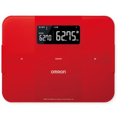 【送料無料】OMRON HBF-255T-R レッド カラダスキャン [体重体組成計]