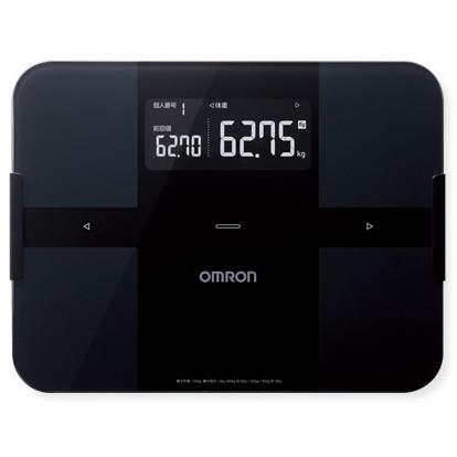 【送料無料】体組成計 体重計 オムロン(OMRON) HBF-255T-BK ブラック カラダスキャン 自動認識機能 Bluetooth通信機能搭載 約4秒で測定完了