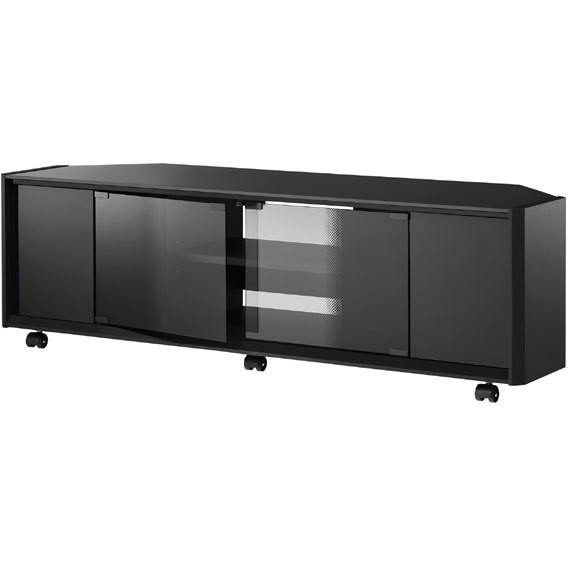 【送料無料】ハヤミ工産 TV-GA1250 ブラック [テレビ台 (43V~55V型対応)]【同梱配送不可】【代引き不可】【沖縄・離島配送不可】