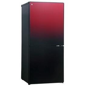 【送料無料】冷蔵庫 一人暮らし ガラスドア 小型 新生活 110l ユーイング UR-FG110J-R ざくろレッド 右開き 2ドア