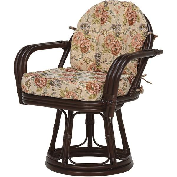 【送料無料】萩原 RZ-934DBR 回転座椅子【同梱配送不可】【代引き不可】【沖縄・北海道・離島配送不可】