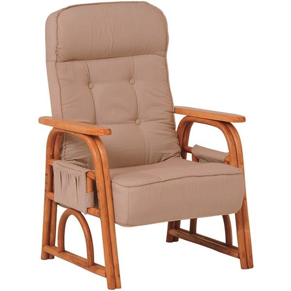 【送料無料】萩原 RZ-1255NA ギア付き座椅子【同梱配送不可】【代引き不可】【沖縄・北海道・離島配送不可】