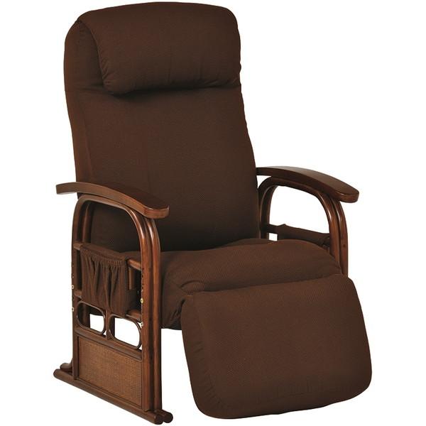 【送料無料】萩原 RZ-1259BR ギア付き座椅子【同梱配送不可】【代引き不可】【沖縄・北海道・離島配送不可】
