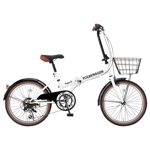【送料無料】OTOMO フォルクスワーゲン Type-2 折畳自転車20(6s) 33777 [折り畳み自転車(20インチ)]【同梱配送不可】【代引き不可】【沖縄・北海道・離島配送不可】